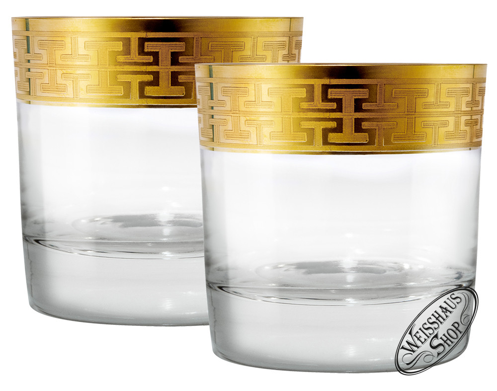 Zwiesel Kristallglas AG Schott-Zwiesel Hommage Gold Classic Whisky/Rum Tumbler gro� Set 2 Gl�ser