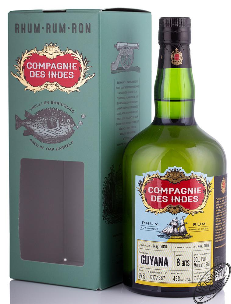 Compagnie des Indes Guyana 8 YO Rum 43% vol. 0,70l