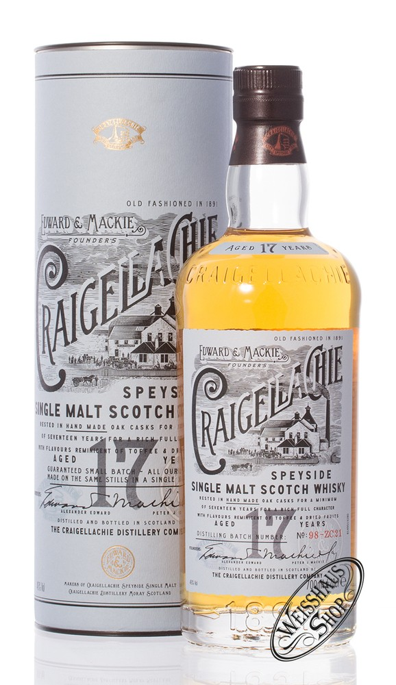 Craigellachie 17 YO Single Malt Whisky 46% vol. 0,70l