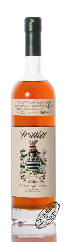 Willett Family Estate Rye 6 YO Whisky 58,7% vol. 0,75l