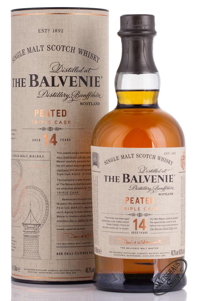 The Balvenie 14 YO Peated Triple Cask Whisky 48,3% vol. 0,70l