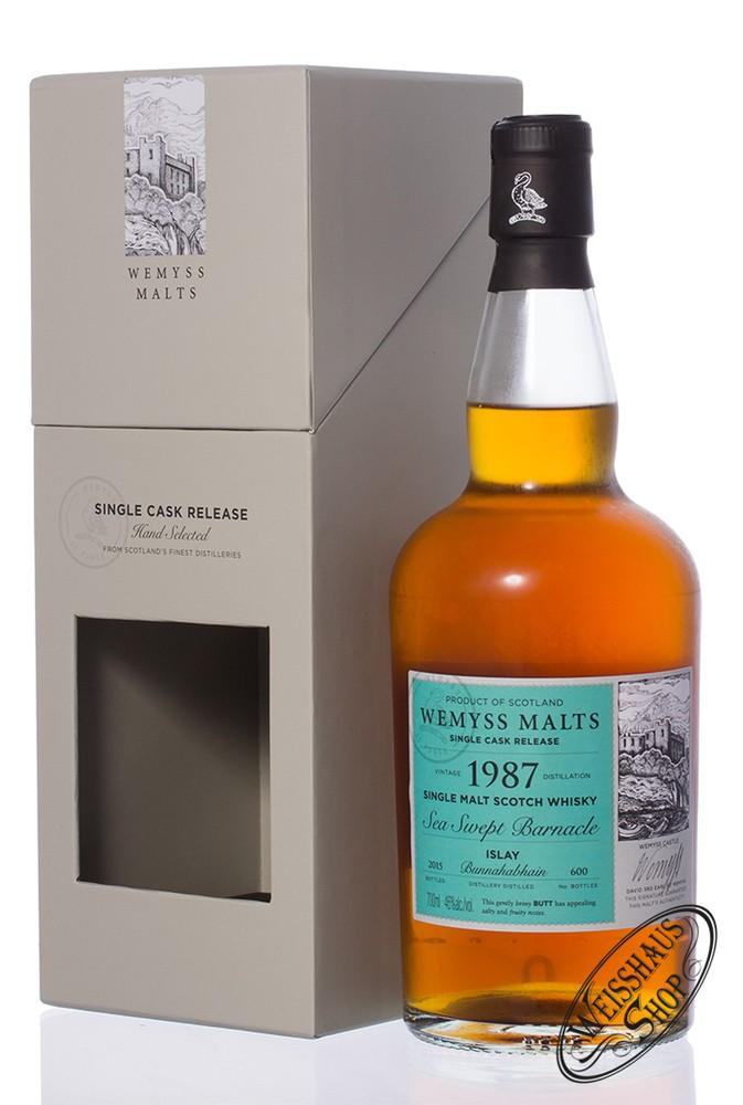 Bunnahabhain Vintage 1987 Wemyss 27 YO Islay Whisky 46% vol. 0,70l