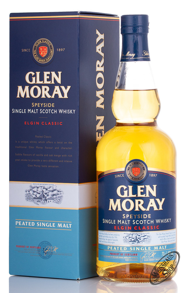 Glen Moray Peated Single Malt Whisky 40% vol. 0,70l