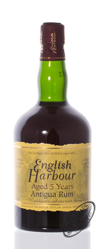 English Harbour 5 YO Rum 40% vol. 0,70l