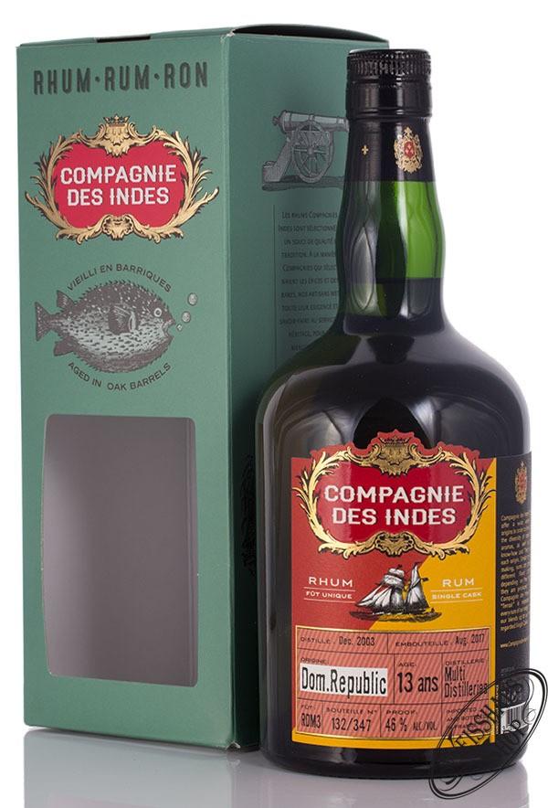 Compagnie des Indes Dom. Republic 13 YO Rum 46% vol. 0,70