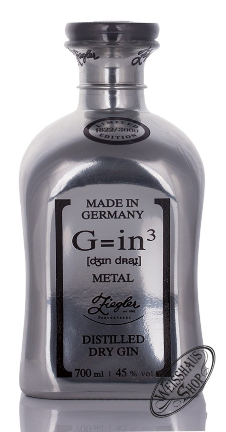 Brennerei Ziegler Ziegler G=in� Metal Edition Dry Gin 45% vol. 0,70l