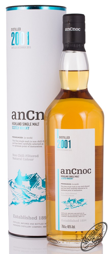 AnCnoc Vintage 2001 Whisky 46% vol. 0,70l
