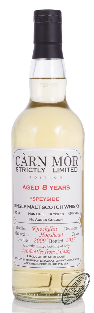 Morrison & MacKay Ltd. Carn Mor Knockdhu Vintage 2009 Limited Whisky 46% vol. 0,70l