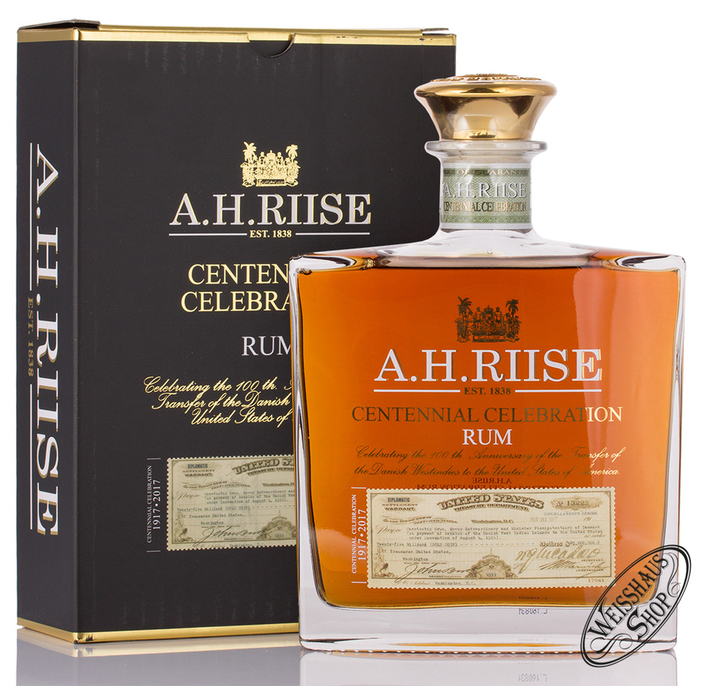 A.H. Riise Centennial Celebration Rum 45% vol. 0,70l