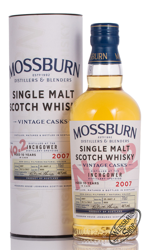 Mossburn Inchgower 10 YO Vintage Cask 2 Whisky 46% vol. 0,70l