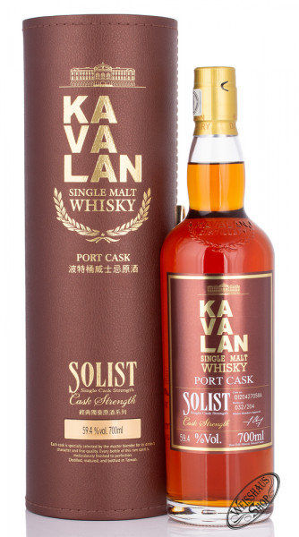 Kavalan Solist Port Cask Whisky 59,4% vol. 0,70l