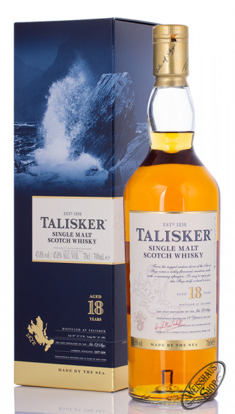 Talisker 18 YO Single Malt Scotch Whisky 45,8% vol. 0,70l