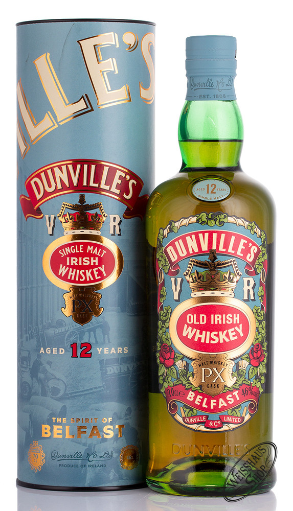 Dunville's 12 YO PX Finish Irish Whiskey 46% vol. 0,70l