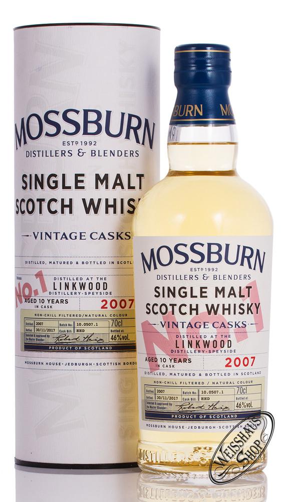 Mossburn Linkwood 10 YO Vintage Cask 1 Whisky 46% vol. 0,70l