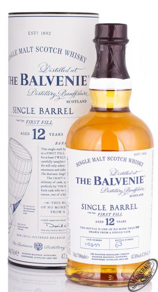 The Balvenie 12 YO Single Barrel Whisky 47,8% vol. 0,70l