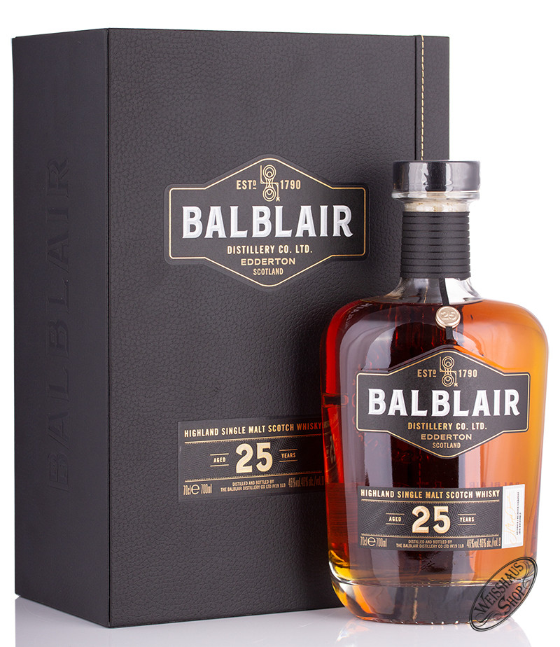 Balblair 25 YO Highland Single Malt Whisky 46% vol. 0,70l