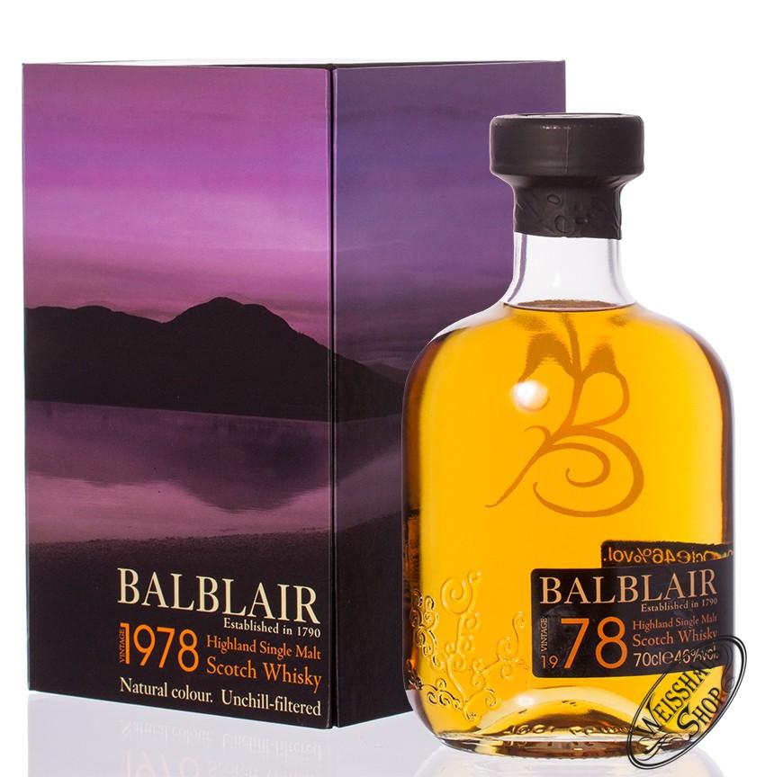 Balblair Vintage 1978 Highland Single Malt Whisky 46% vol. 0,70l