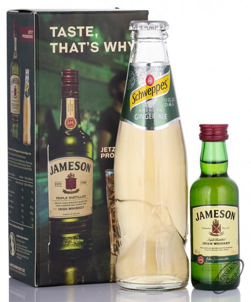 Jameson Irish Whiskey Geschenk-Set 40% vol. 0,05l