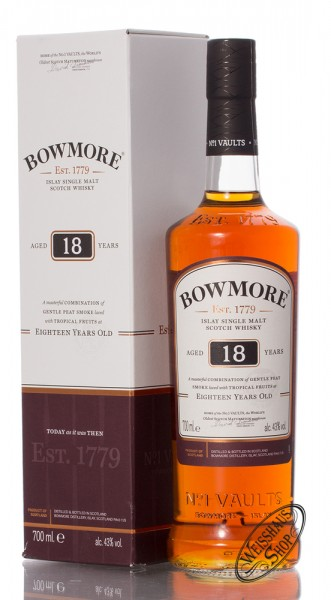 Bowmore 18 Years Old Islay Single Malt Whisky 43% vol. 0,70l