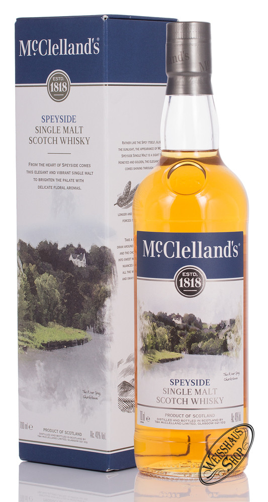 McClellands Speyside Single Malt Whisky 40% vol. 0,70l