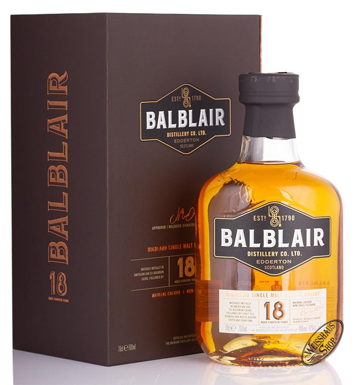 Balblair 18 YO Highland Single Malt Whisky 46% vol. 0,70l