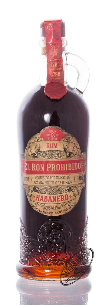 El Ron Prohibido Habanero 12 YO Rum 40% vol. 0,70l