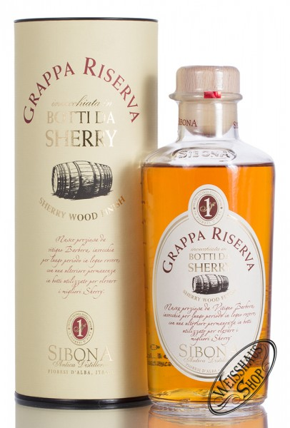 Sibona Grappa Riserva Sherry 44% vol. 0,50l