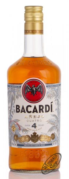Bacardi Anejo Cuatro 4 YO Rum 40% vol. 0,70l