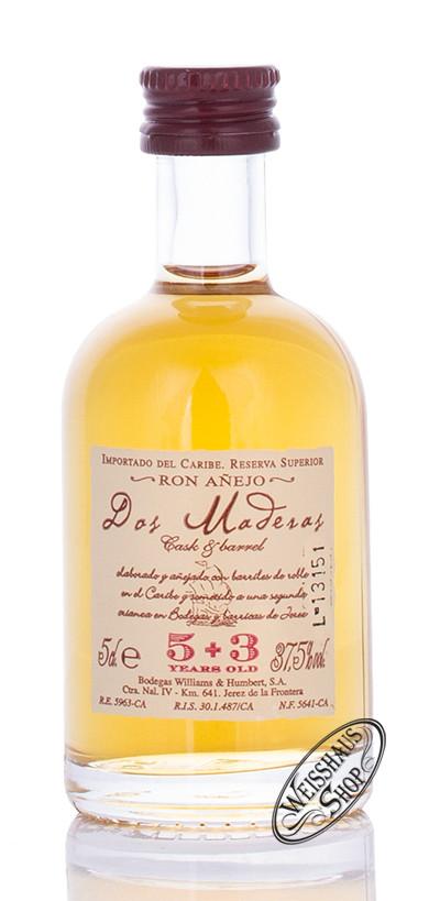 Dos Maderas 5 + 3 Rum Miniatur 37,5% vol. 0,05l