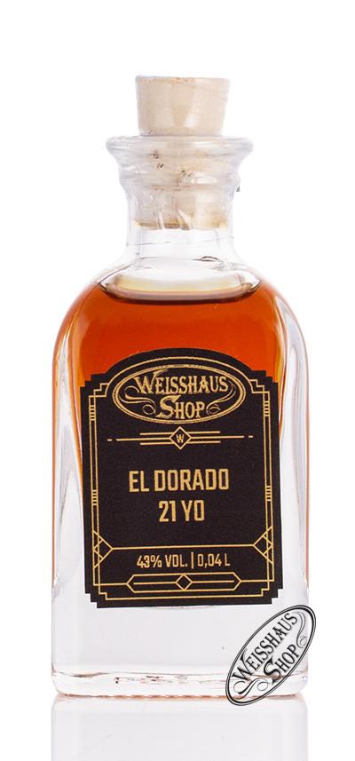 El Dorado Rum 21 YO 43% vol. 0,04l Weisshaus Sample