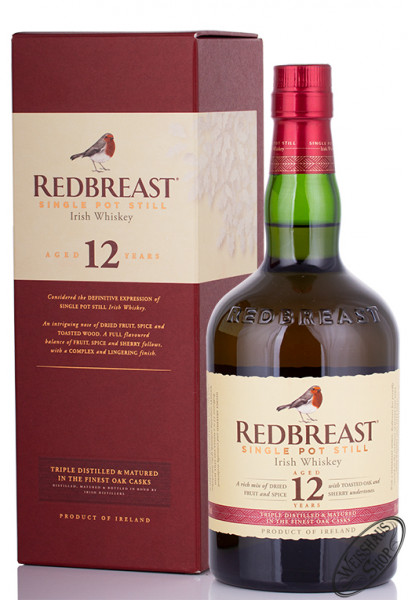 Redbreast 12 YO Irish Whiskey 40% vol. 0,70l