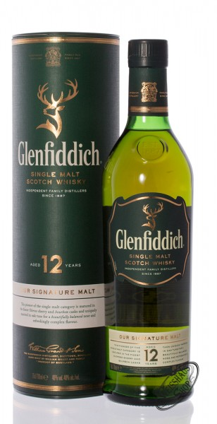 Glenfiddich 12 Years Old Single Malt Whisky 40% vol. 0,70l