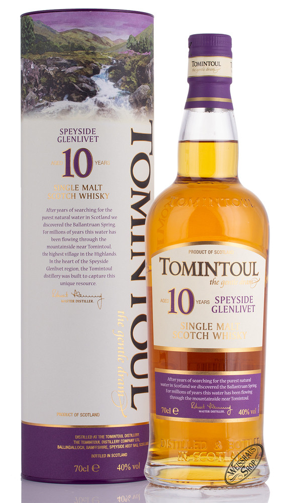 Tomintoul 10 YO Whisky 40% vol. 0,70l
