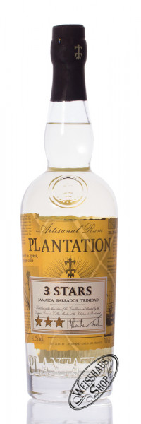 Plantation 3 Stars White Jamaica Rum 41,2% vol. 0,70l