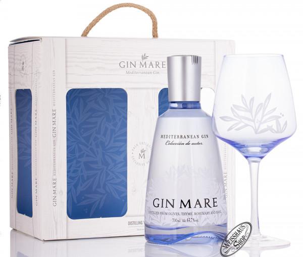 Gin Mare Gin Geschenk-Set mit Balloon Glas 42,7% vol. 0,70l