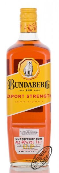 Bundaberg Export Strength Underproof Rum 40% vol. 1,0l