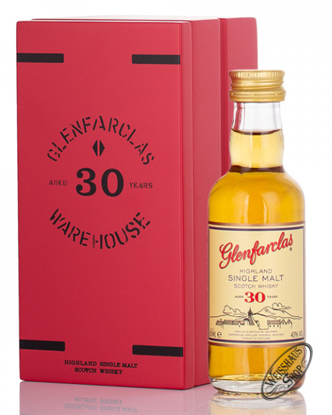 Glenfarclas 30 YO Single Malt Whisky 43% vol. 0,05l Miniatur