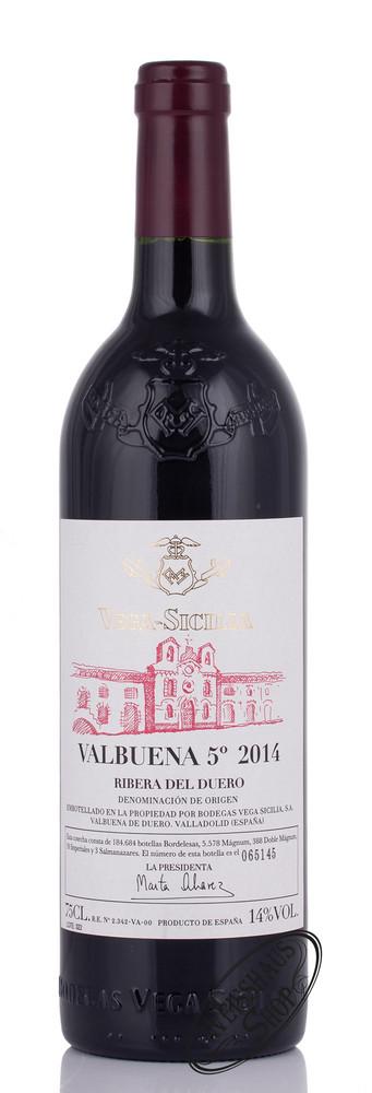 Vega Sicilia Valbuena 5� Ano 2014 14% vol. 0,75l
