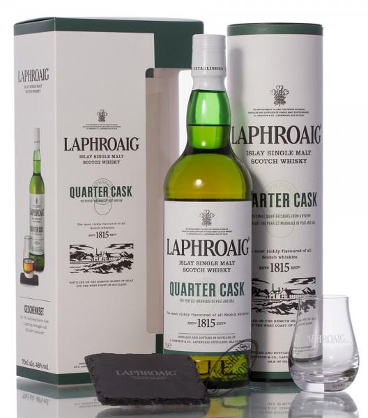Laphroaig Quarter Cask Single Malt Whisky Geschenk-Set 48% vol. 0,70l