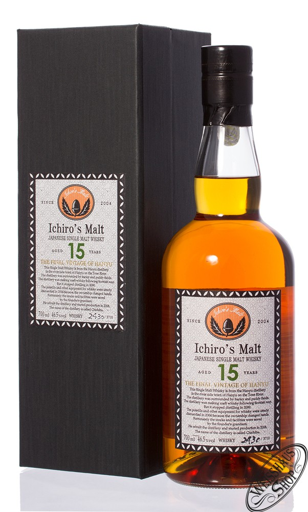 Hanyu Final Vintage 15 YO Whisky 46,5% vol. 0,70l