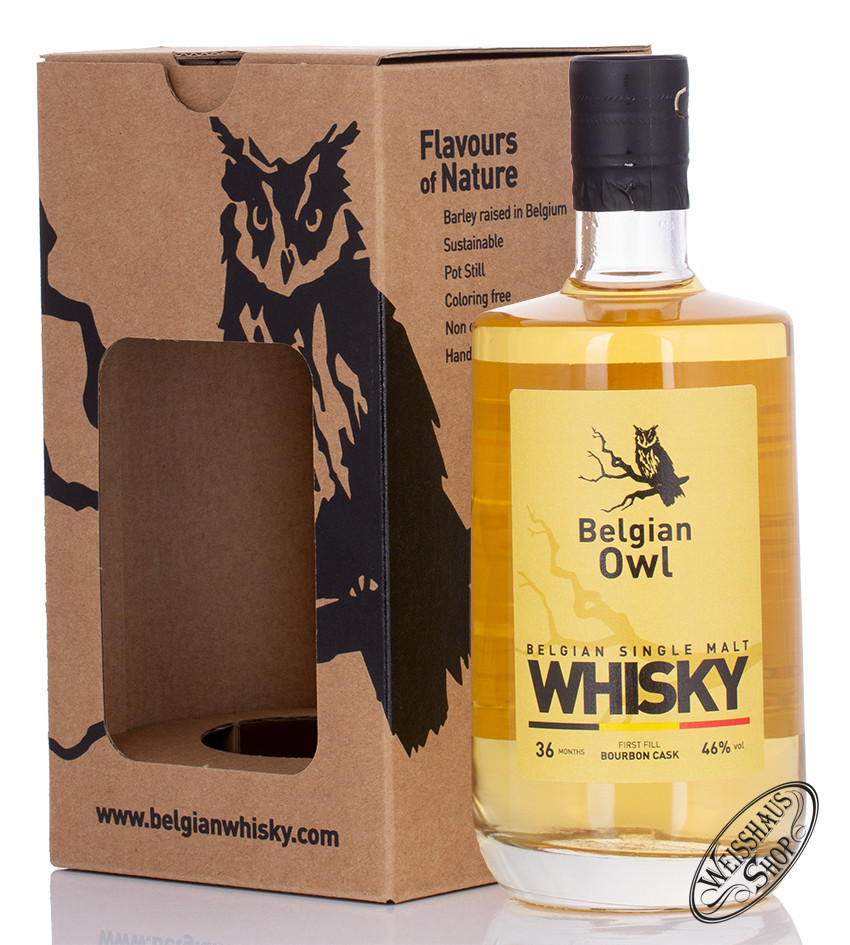 Belgian Owl 3 YO Whisky 46% vol. 0,50l