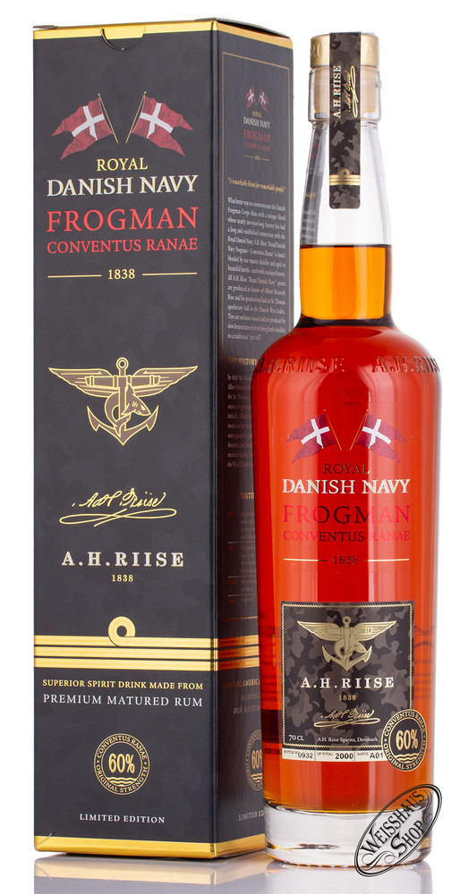 A.H. Riise Frogman Danish Navy Rum 60% vol. 0,70l