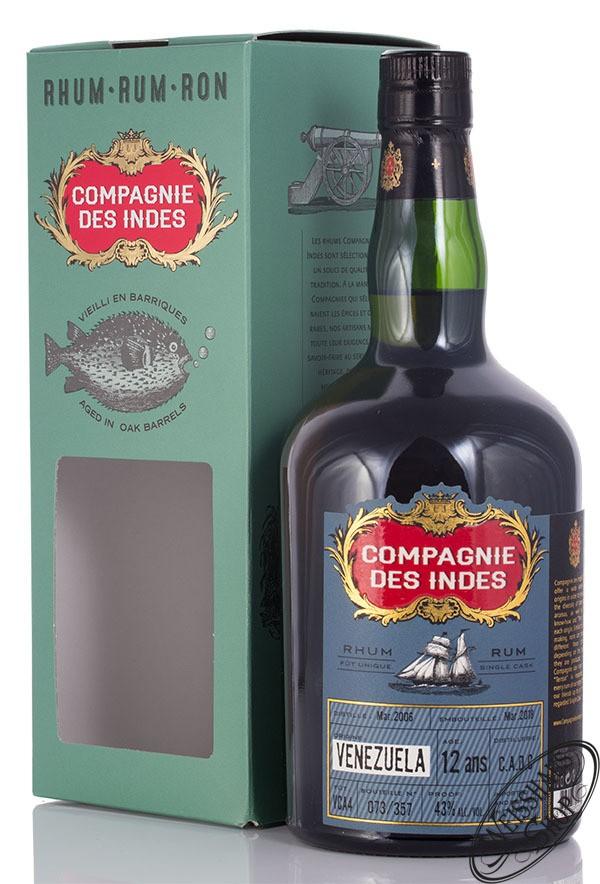 Compagnie des Indes Venezuela 12 YO Rum 43% vol. 0,70l