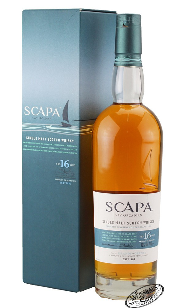 Scapa of Orkney 16 YO Whisky 40% vol. 0,70l