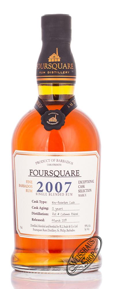 Foursquare Distillery Foursquare Cask Strength Rum 2007 59% vol. 0,70l