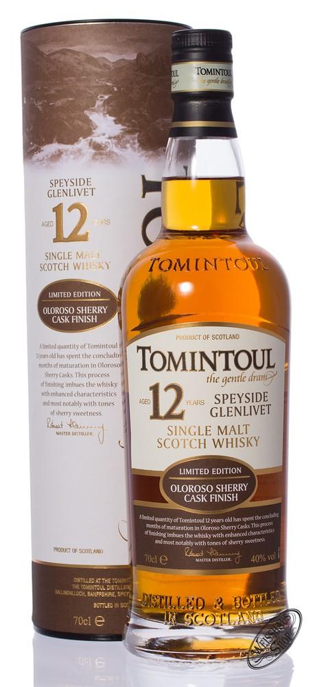 Tomintoul 12 YO Oloroso Whisky 40% vol. 0,70l