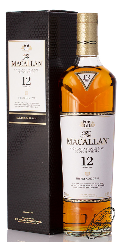 Macallan 12 YO Sherry Oak Triologie Whisky 40% vol. 0,70l