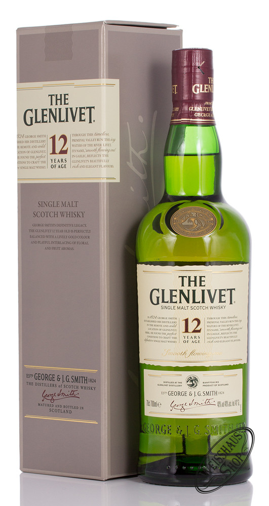 The Glenlivet 12 YO Whisky 40% vol. 0,70l