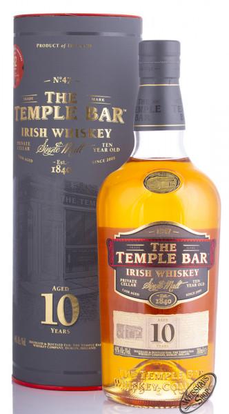 The Temple Bar 10 YO Single Malt Irish Whiskey 40% vol. 0,70l