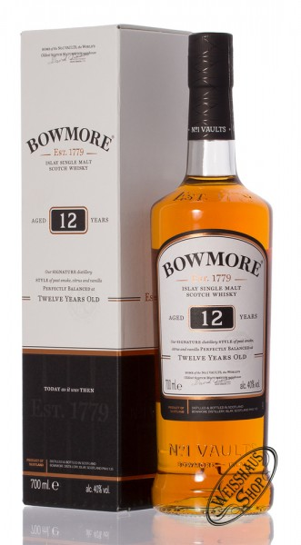 Bowmore 12 Years Old Islay Single Malt Whisky 40% vol. 0,70l
